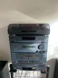 Som Sony com disco de vinil