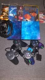 Playstation 2 completo todo bom<br>Por 350