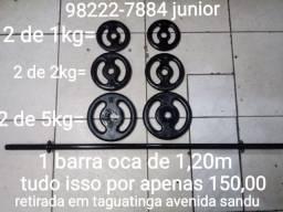 Barra e pesos