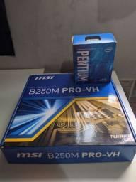 Kit placa mãe + Processador G4560 + 8GB Ram