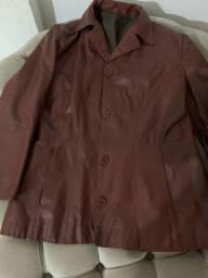 Jaqueta couro feminina g cor: vermelho