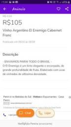 Vinho Argentino El Enemigo Cabernet Franc