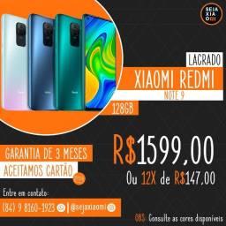 Xiaomi Redmi Note 9 128GB, Lacrado, Garantia!