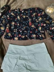 Blusa e short saia