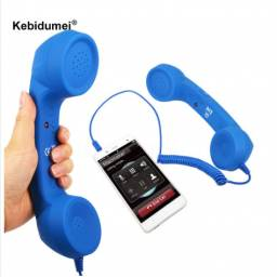 Telefono manual. novo, cor azul