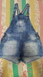 Macaquinho jeans tamanho 44