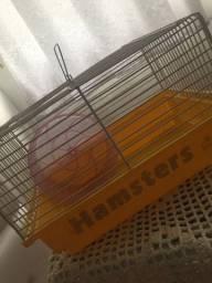 Gaiola para hamster + rodinha + bebedouro
