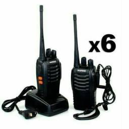 Kit 4 Rádio Comunicador Walk Talk Baofeng Bf-777s Com Fone
