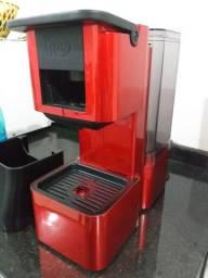 Cafeteira 3 coraçoes vermelho