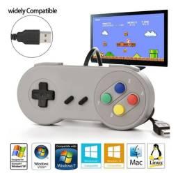 Controle Joystick Knup Super Nintendo Usb Kp-3124<br>