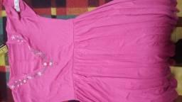 Vestido rosa tamanho G