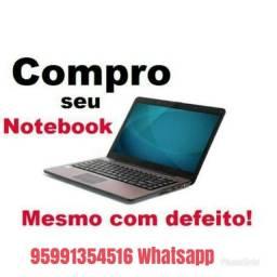 Compr notebook com defeitos, quebrado, etc