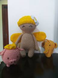 Boneca borboleta e seus Amigos Amigurumi