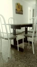 Mesa granito + 4 cadeiras