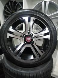 Rodas originais Fiat aro 15 com pneus