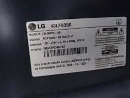 TV Smart  LG 43 polegadas com a tela trincada
