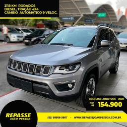 Jeep Compass Longitude Diesel - 2020 - Apenas 2118 km rodados. Troca e financia!