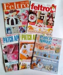 Vendo 5 revistas (usadas) com artesanatos em Feltro e Patch Aplique