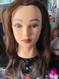 2 Cabeças de boneca para treino cabelo