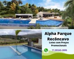 Alpha Parque Recôncavo, lotes a partir de 360 m² , com total infraestrutura