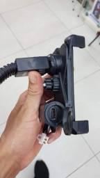Suporte e Carregador USB Powerbank para Moto