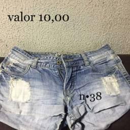 Shorts jeans em bom estado cada 10,00
