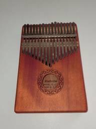 Piano de Mão Kalimba 17 teclas Músicas Instrumento Musical Kit Completo