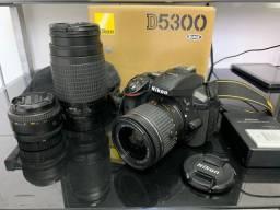 Nikon D5300 + 3 lentes