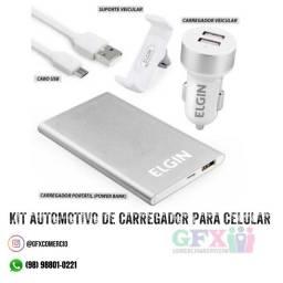 Kit Automotivo Carregador para Celular