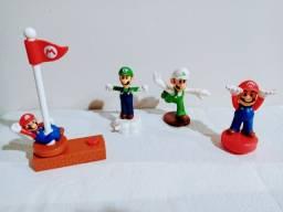 Mini Figuras-Kit com 4 bonecos- Mario Bros e Luigi