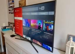 Troco TV smart 55 polegadas nova na caixa por som antigo