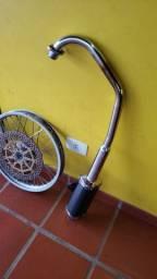 Escape furtuna 125 e rodas aluminio com discao