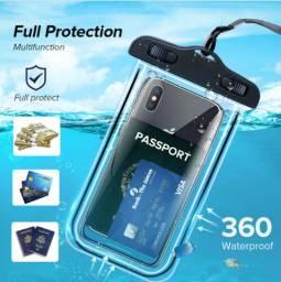 Case protetora porta celular documentos chaves carro universal impermeável