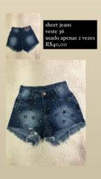 Short jeans , 36 O número