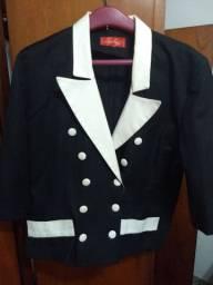4 blazer ( 2 pretos manga 3/4) azul marinho e o lilás manga longa