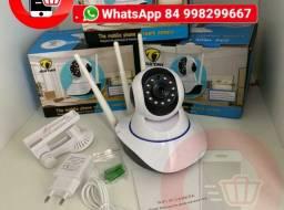 Câmera Ip 3 Antenas Wifi Wireless Hd Visão Noturna áudio e baba eletrônica
