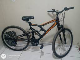 Bicicleta aro 26 fullsion preto