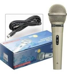 Microfone Profissional Dinâmico Mud-515 Com Cabo De 4,7 Mts