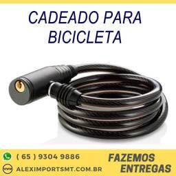 Cadeado para Bicicleta com Chave 8mm 100 Centímetros Bicicreta