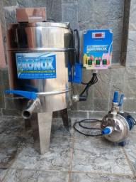 Iogurteira pasteurizado 50 litros + Bomba de transferência