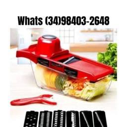 Kit Fatiador Ralador Verduras e Legumes Mandoline 6 em 1 Qualidade Garantida