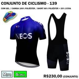 Conjunto de Ciclismo Ineos Camisa + Bretelle