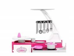 Cozinha Infantil Classic Rosa Fogão Pia Geladeira - Cotiplas 1601