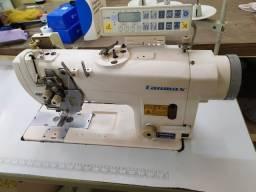 Máquina prespontadeira duas agulhas semi nova lanmax eletrônica.