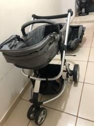 Carrinho de bebê safety 3 em 1 semi novo