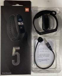 M5 Smartband Completo Pressão/Batimentos/Notificações/Música/Etc
