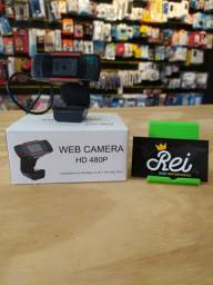 Webcam super moderna, qualidade de imagem HD compatível com vários sistemas operacionais