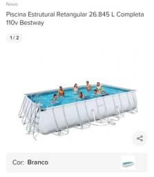 Piscina Estrutural Retangular 26.845 L Completa 110v Bestway - na caixa, SEM USO