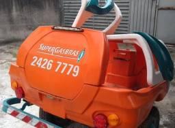 Carretinha de reboque para gás