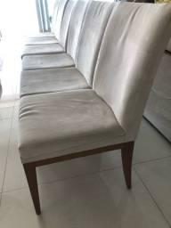Cadeiras em camurça